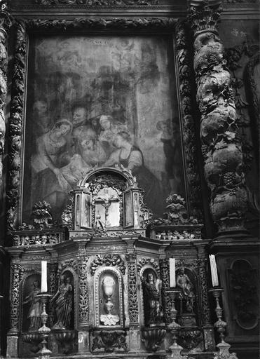 tabernacle et tableau du maître-autel : Naissance de la Vierge, 17e siècle
