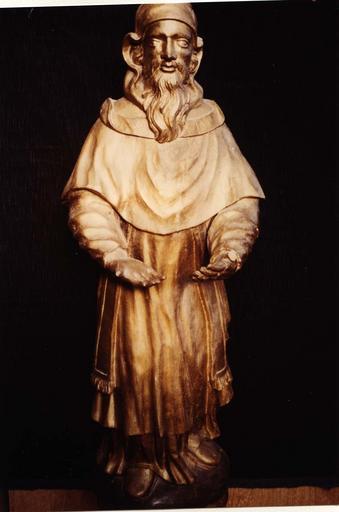 statue : Saint Siméon tenant l'Enfant Jésus, détail de saint Siméon sans l'Enfant