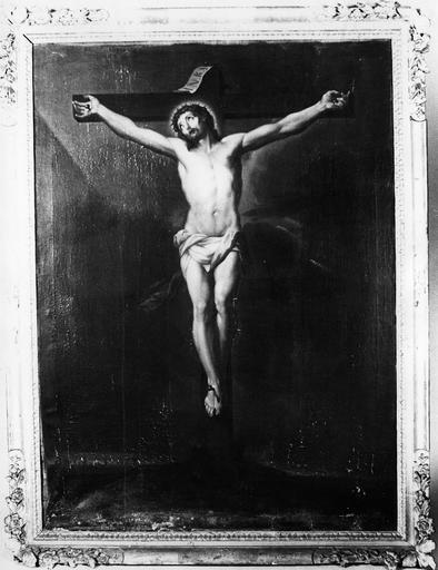 Tableau : Le Christ en croix, cadre