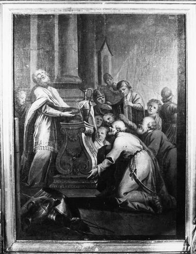 tableau : Le Sacrifice de Melchisédech (face) et cadre