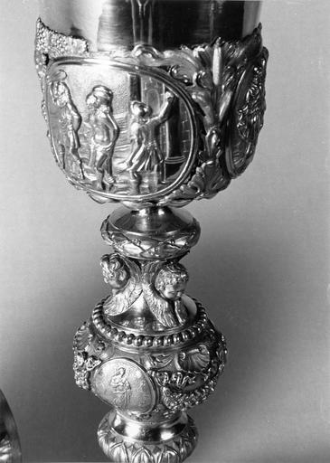 calice à fausse coupe, argent doré, 1819-1838