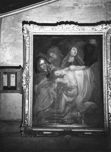 tableau : Déposition de Croix, panneau peint, bois, 17e siècle