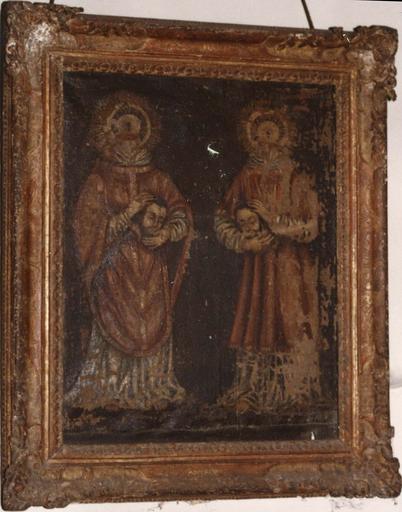tableau : saints Ferréol et Ferjeux, 17e siècle