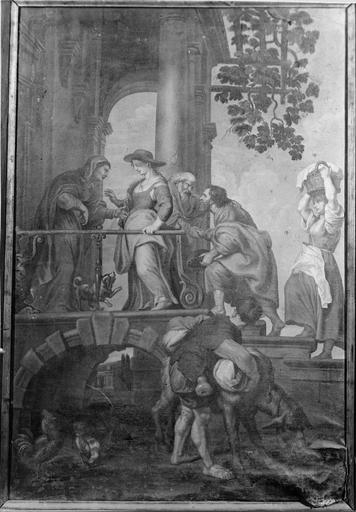 tableau : La Visitation, huile sur toile, par Joseph Etienne Baudot, 1660