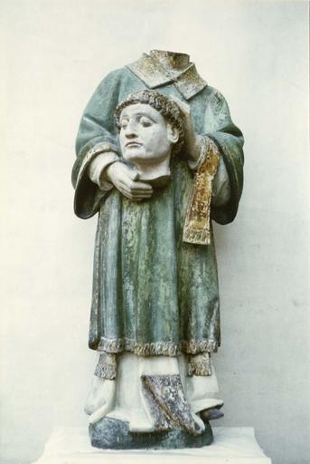 statue de saint Ferjeux, apès restauration