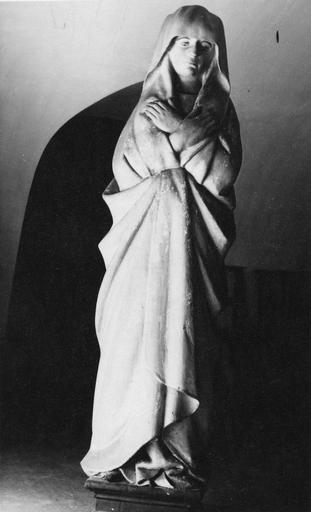 statue : Vierge de Douleur, bois peint, 15e siècle (ancien calvaire ?)