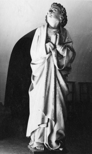statue : Saint Jean, bois peint, 15e siècle (ancien calvaire ?)