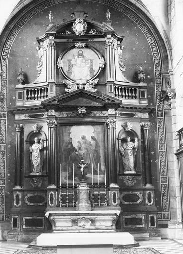 Maître-autel, tabernacle, gradin, retable, tableau : La Purification de la Vierge