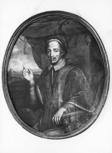 Tableau : Portrait d'un pape, cadre
