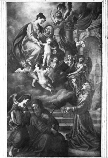 Tableau : Les deux saint Antoine, cadre