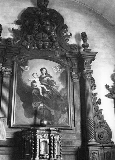 tableau : Vierge à l'Enfant, huile sur toile du retable principal, fin 18e siècle