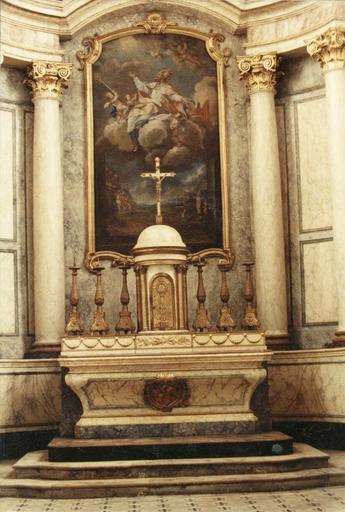 retable du maître-autel, tableau : saint Martin, après restauration