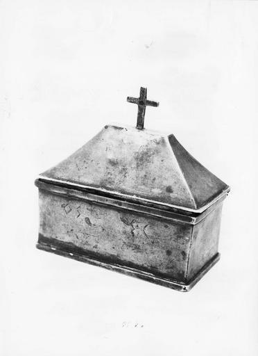 boîte aux saintes huiles, argent, 1818-1838