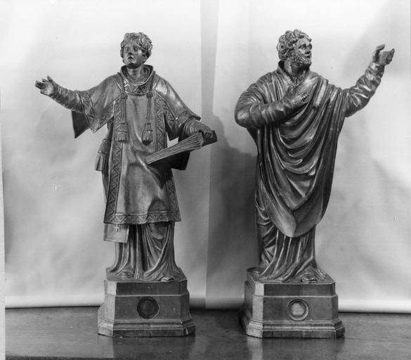2 statuettes-reliquaires : Saint Ferréol, Saint Ferjeux, 18e siècle