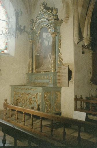 autel et retable latéral gauche, 18e siècle