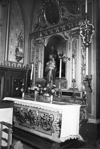 autel et retable latéral nord, 18e siècle