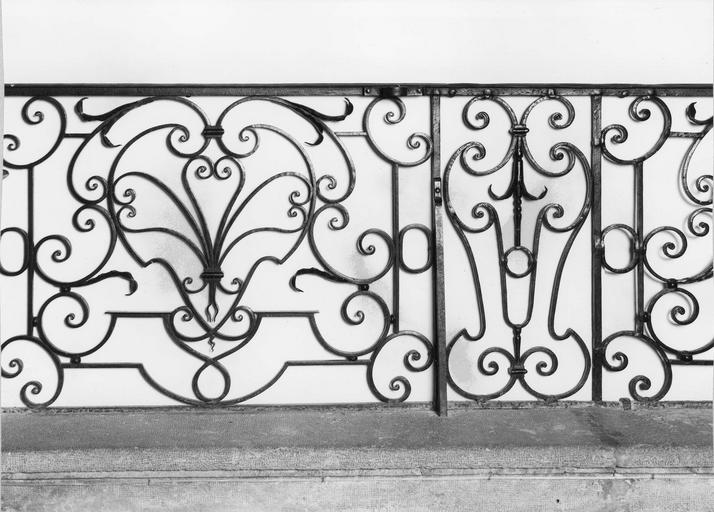 clôture de choeur ou grille de communion, fer forgé, 1759