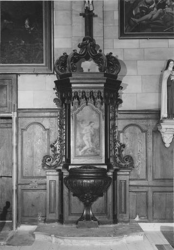 fonts baptismaux et leur retable, 18e siècle