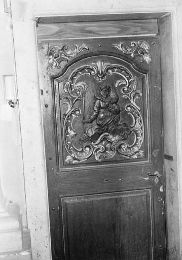 vantaux des portes de la sacristie : Le Bon Pasteur