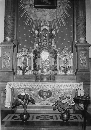 autel, tabernacle de la chapelle de la Vierge, bois doré, 18e siècle