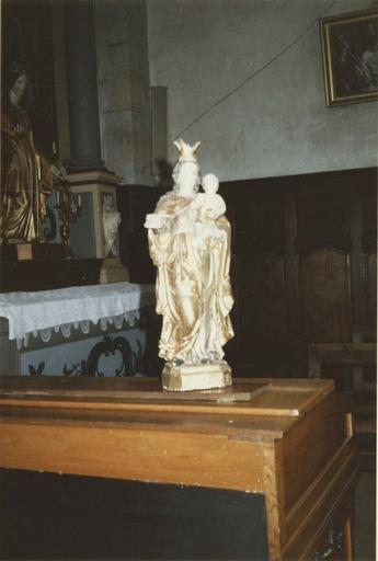 statuette : Vierge à l'Enfant, 18e siècle