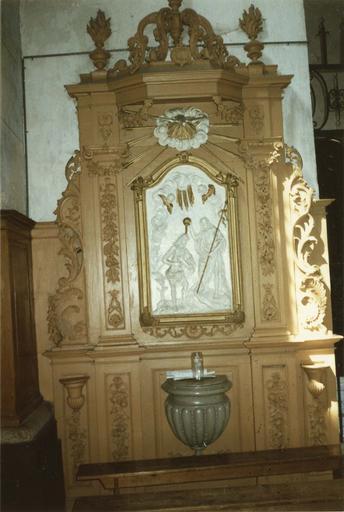 retable des fonts baptismaux, 18e siècle