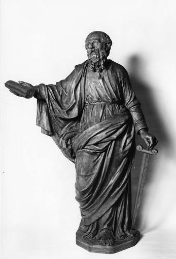 statue : Saint Paul, bois sculpté, 18e siècle