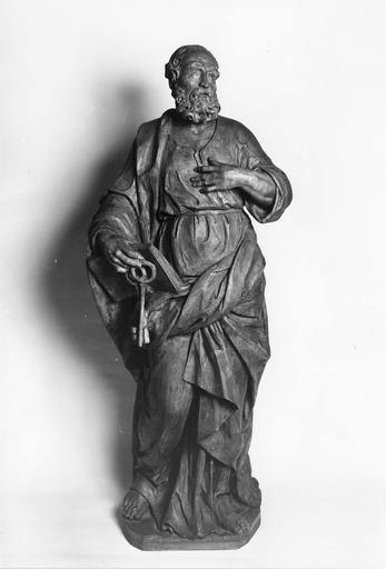 statue : Saint Pierre, bois sculpté, 18e siècle