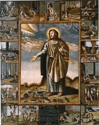 tableau : Les Tourments des saints Martyrs, 1689