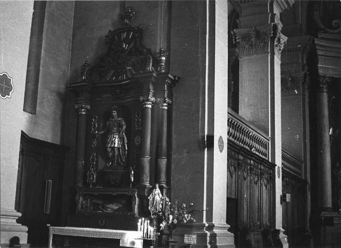 autel et retable latéral gauche, statue : saint Modeste