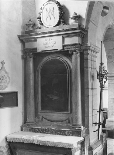 premier autel retable latéral gauche, tableau : La Cène