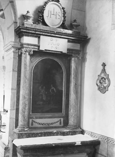 1er autel retable latéral droit, tableau : Jésus et la Samaritaine