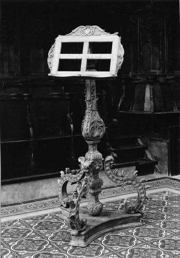 lutrin, bois sculpté, 18e siècle