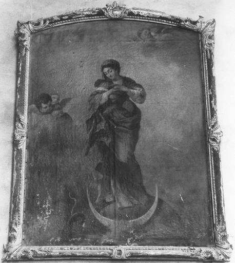 tableau : L'Immaculée Conception, huile sur toile, 18e siècle