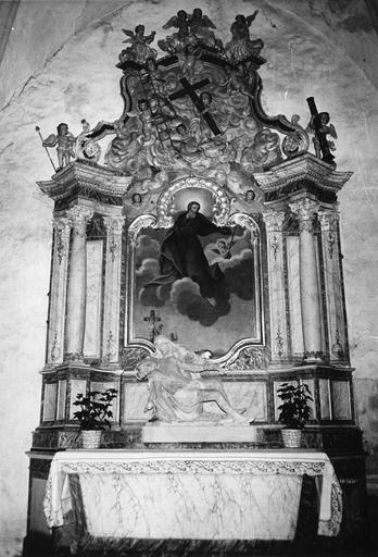 retable de la chapelle Ferrée, bois peint, 18e siècle, après restauration