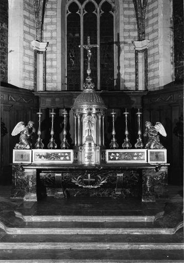 maître-autel, gradin d'autel, tabernacle, 1ère moitié 19e siècle