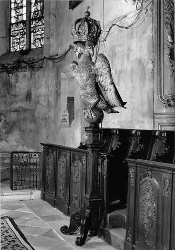 aigle-lutrin, bois doré, 17e et 19e siècle
