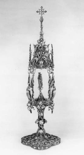 reliquaire-monstrance dit reliquaire de Notre-Dame des Malades, attribué à Emile Froment-Meurice
