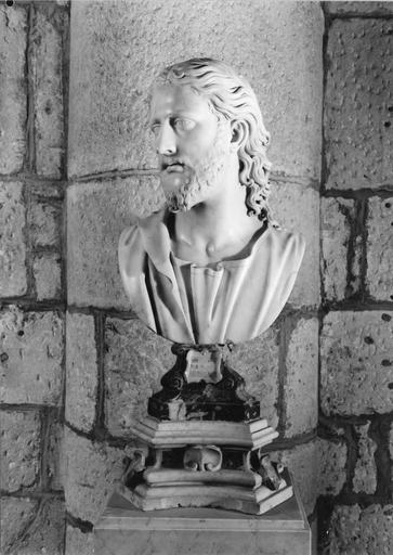 statue (buste) : Le Christ, marbre, fin 16e - début 17e siècle