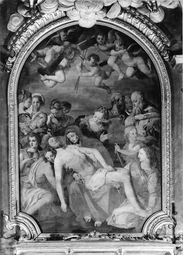 tableau : La Déploration sur le Christ mort, 16e siècle