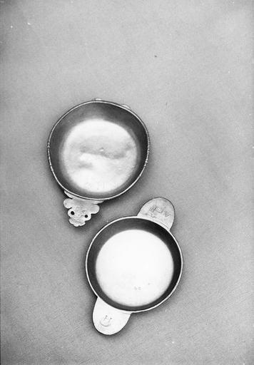 deux écuelles, étain, 18e siècle