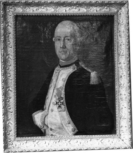 tableau : Portrait d'officier portant la croix d'ordre du Saint-Esprit, fin 18e siècle
