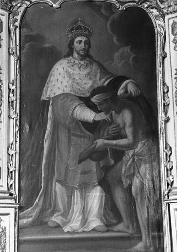 tableau : Saint Louis habillant un pauvre, 18e siècle