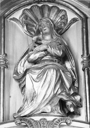 statue : Vierge de douleur, bois sculpté et doré, 18e siècle