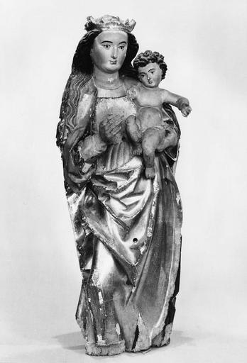 statue : Vierge à l'Enfant, bois peint et doré, 16e siècle