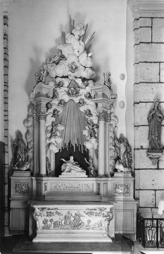 autel secondaire nord et son retable