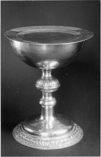 coupe et plat de communion du culte luthérien, vermeil, 17e siècle