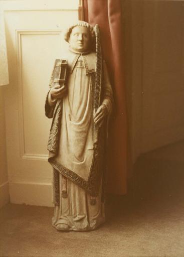 statue : Saint Etienne ou saint diacre ?, marbre polychrome, début 16e siècle