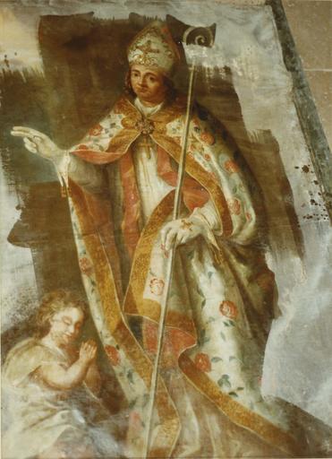 tableau : Saint Claude, huile sur toile, 17e siècle