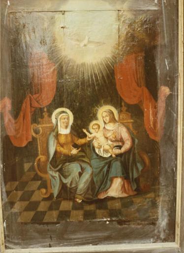 tableau (panneau peint) : Sainte Anne, la Vierge et l'Enfant, 1632